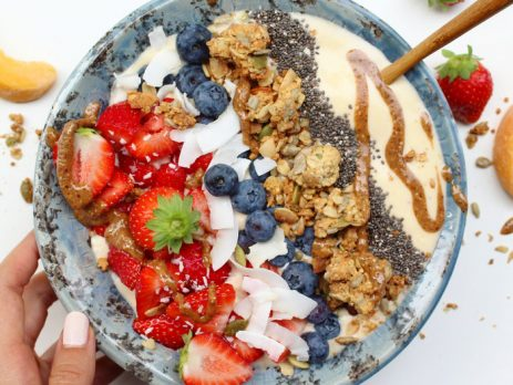Perzik en Vanille Smoothie Bowl