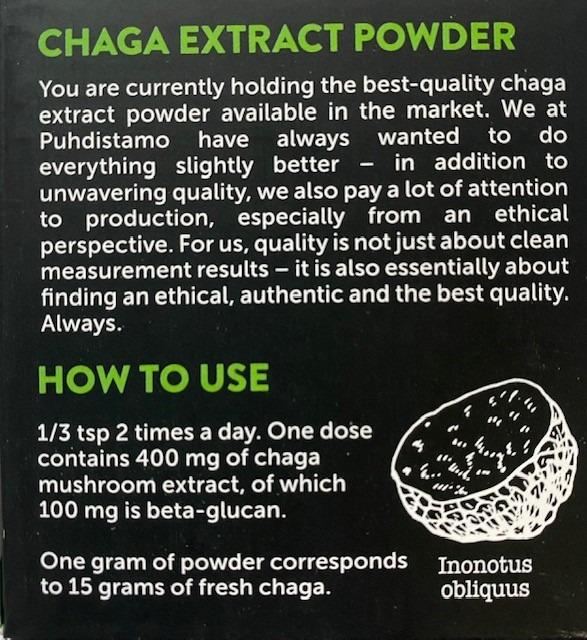 Chaga Extract van Puhdistamo